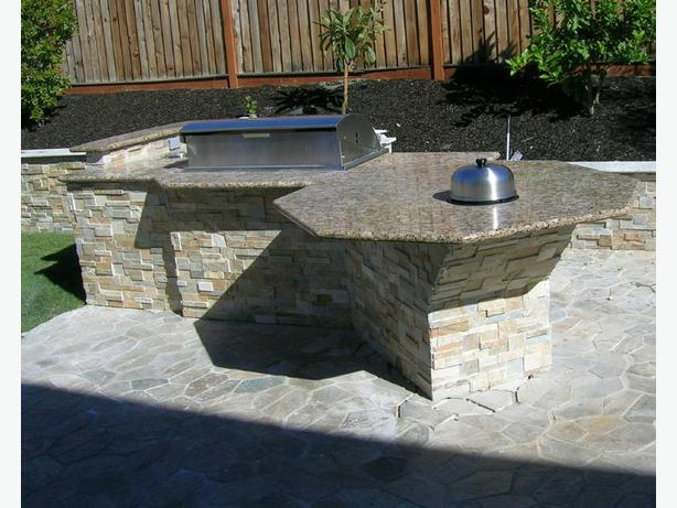 Outdoor BBQ granite countertop from $39.95/sqft