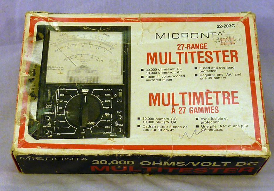 micronta 4001 metal detector manual pdf