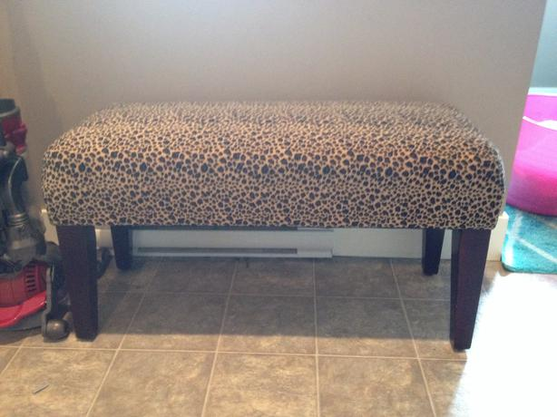 Leopard print bench sooke victoria Leopard print bench