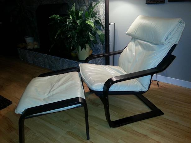 Ikea Leather Poang Chair And Ottoman West Shore Langford