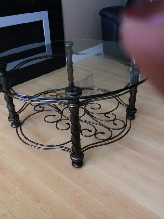 glass wrought iron coffee end sofa tables north regina regina. Black Bedroom Furniture Sets. Home Design Ideas