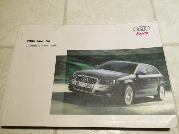 audi a3 2006 original owners manual for sale for 10 nepean ottawa. Black Bedroom Furniture Sets. Home Design Ideas