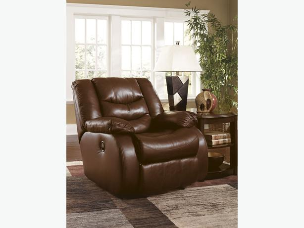 New Revolution Saddle Top Grain Leather Recliner Reg 799