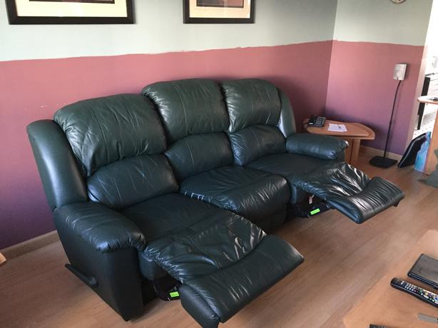 El ran reclining leather sofa gatineau sector quebec ottawa for Divan 3 places elran