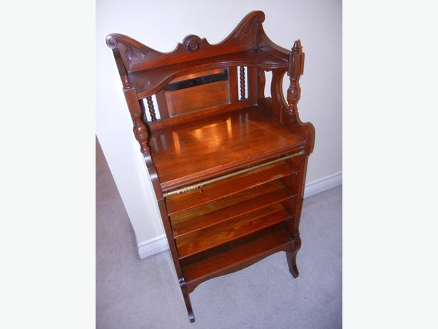 Antique Mahogany Sheet Music Record Cabinet Saanich Victoria