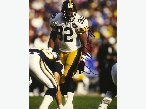 Jason Gildon Signed Pittsburgh Steelers 8x10 Photo
