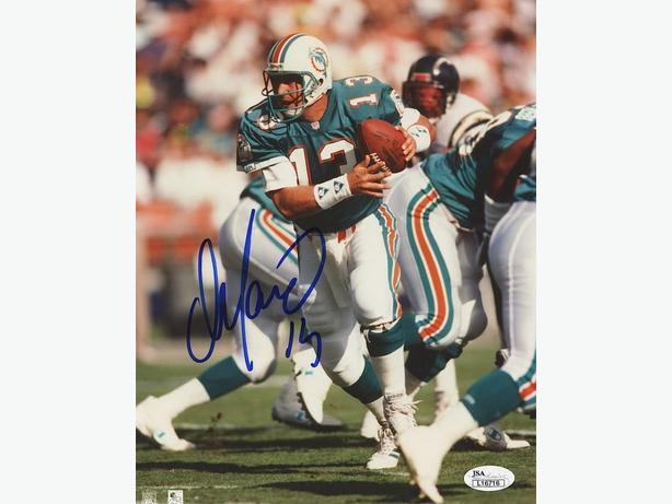 Dan Marino Signed Dolphins 8x10 Photo (JSA COA)