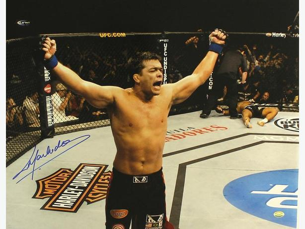 Lyoto Machida UFC Signed 16x20 Photo (Sports Integrity COA)