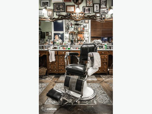 Unisex haircuts, straight shaves, and women's styling done