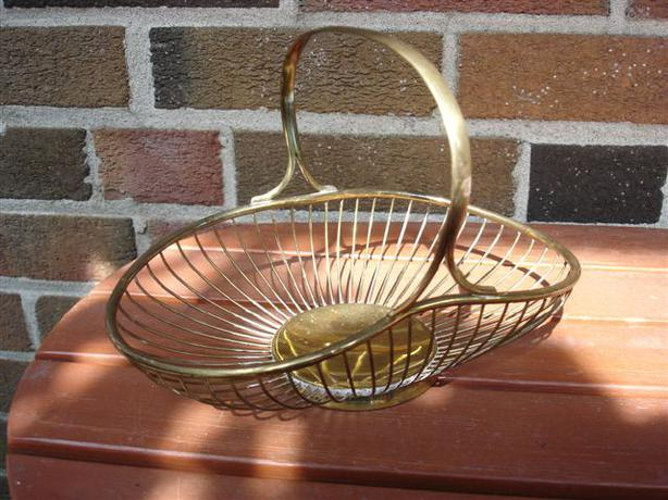 Vintage Brass Wire Basket