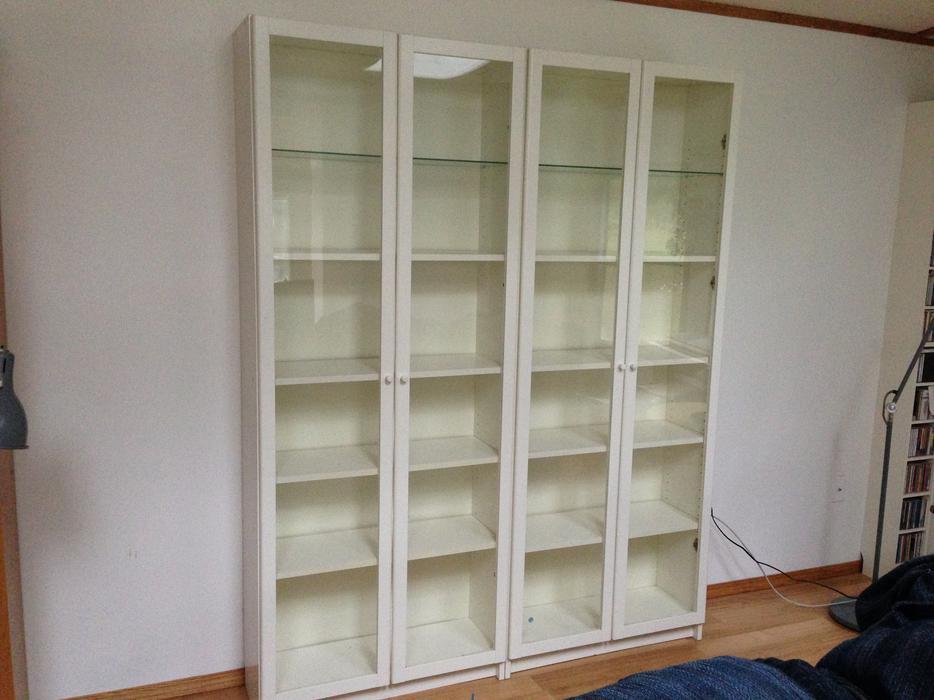 Ikea Billy Bookshelves With Glass Doors Sooke Victoria