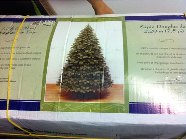 Costco 7 5 Ft Artificial Christmas Tree Esquimalt Amp View