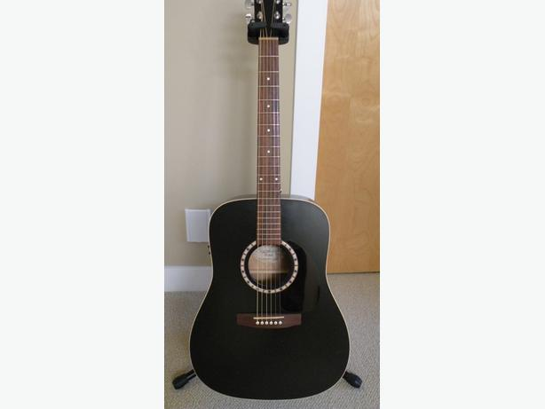art lutherie cedar black acoustic electric guitar reduced price saanich victoria. Black Bedroom Furniture Sets. Home Design Ideas