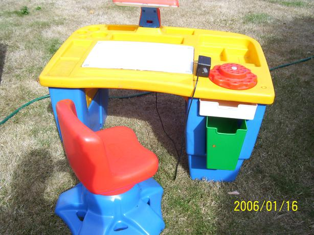 Little Tikes Crafting Table Or Desk With Swivel Chair West