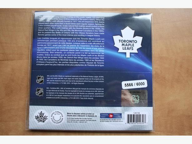 NHL COIN AND STAMP GIFT SET -- Toronto Maple Leafs ( Serie No. 5566)