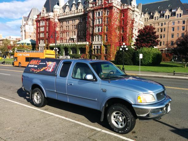 1998 ford f 150 263 740 km v8 xlt triton 4 6l 4x4 crew cab with canopy esquimalt view royal. Black Bedroom Furniture Sets. Home Design Ideas