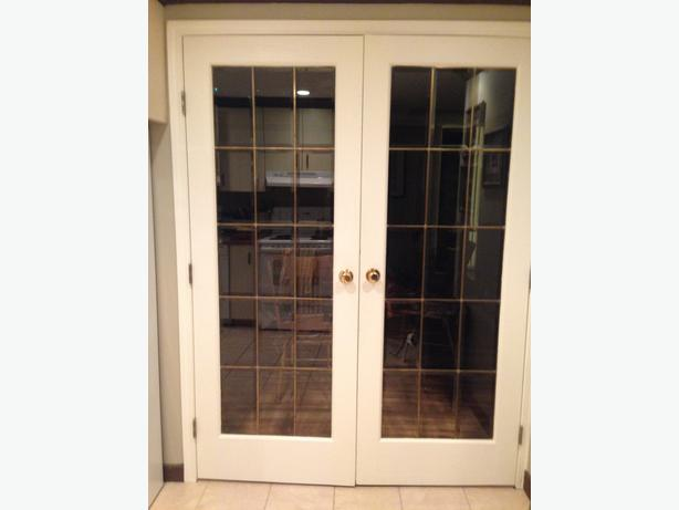 French doors with 2x6 frame south nanaimo parksville for Used french doors
