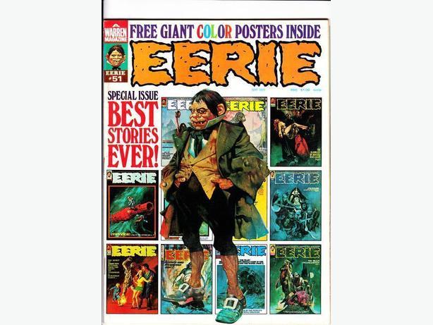 EERIE (B&W Horror Magazine) (#46 - 54) (9 issue run) - Warren Publishing