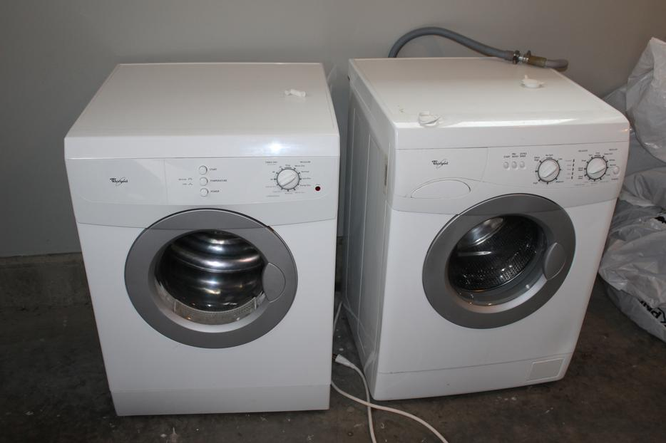 used stackable washer and dryer apartment sized outside