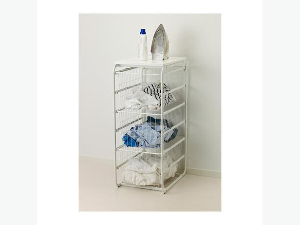 Ikea algot new dresser drawer storage with wire baskets for Ikea basket drawers
