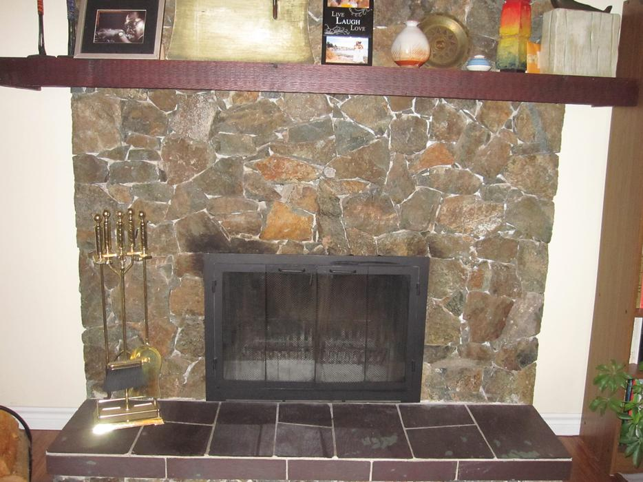 Fireplace Double Doors With Wire Mesh Screen Saanich Victoria