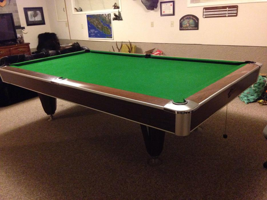 National 5x10 slate pool table lantzville parksville for 10 x 5 snooker table