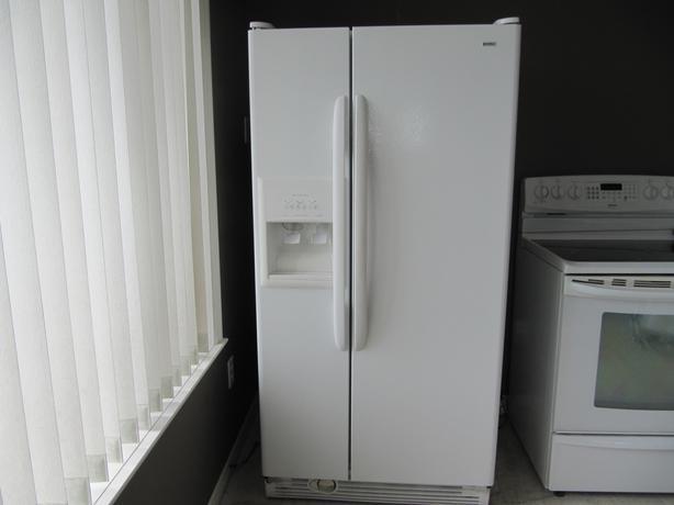 white double door. White Kenmore Double Door Fridge