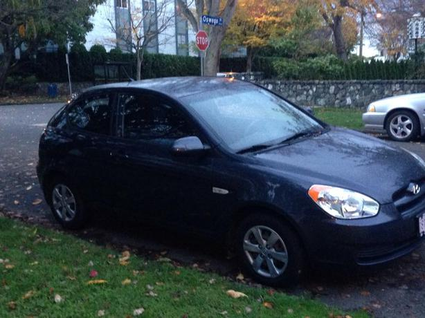 midnight gray hyundai accent 2008 manual drive victoria. Black Bedroom Furniture Sets. Home Design Ideas