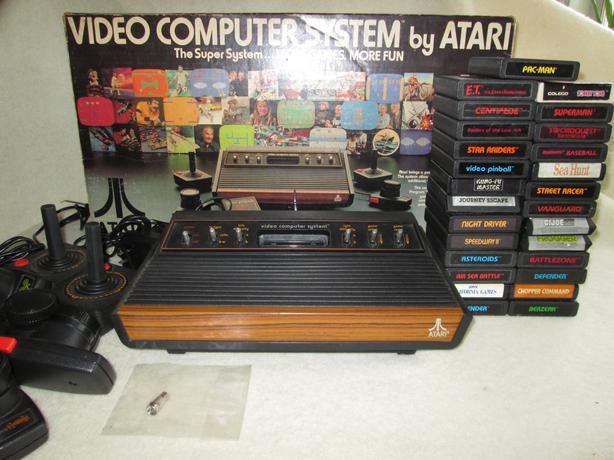 Atari light sixer 2600 console w original box 28 games more rossland kootenays - Original atari game console ...