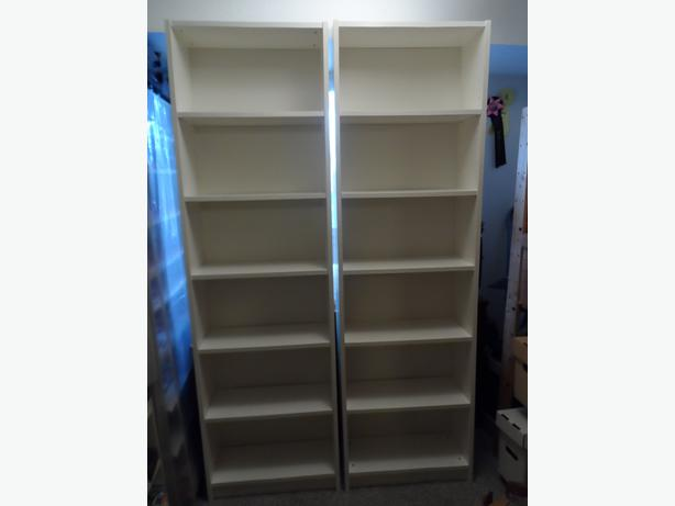 pair of ikea billy 60 cm bookcases in white nepean ottawa. Black Bedroom Furniture Sets. Home Design Ideas