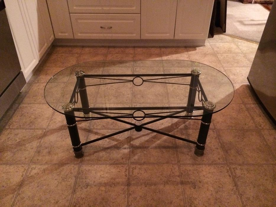 Glass Coffee Table And End Table Saanich Victoria