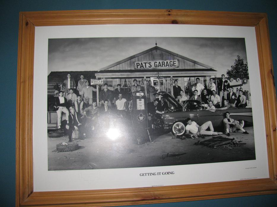 Toronto maple leafs limited edition pat 39 s garage framed for Garage prints