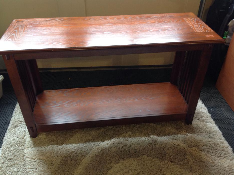 Mission style oak sofa table central saanich victoria for Sofa central table