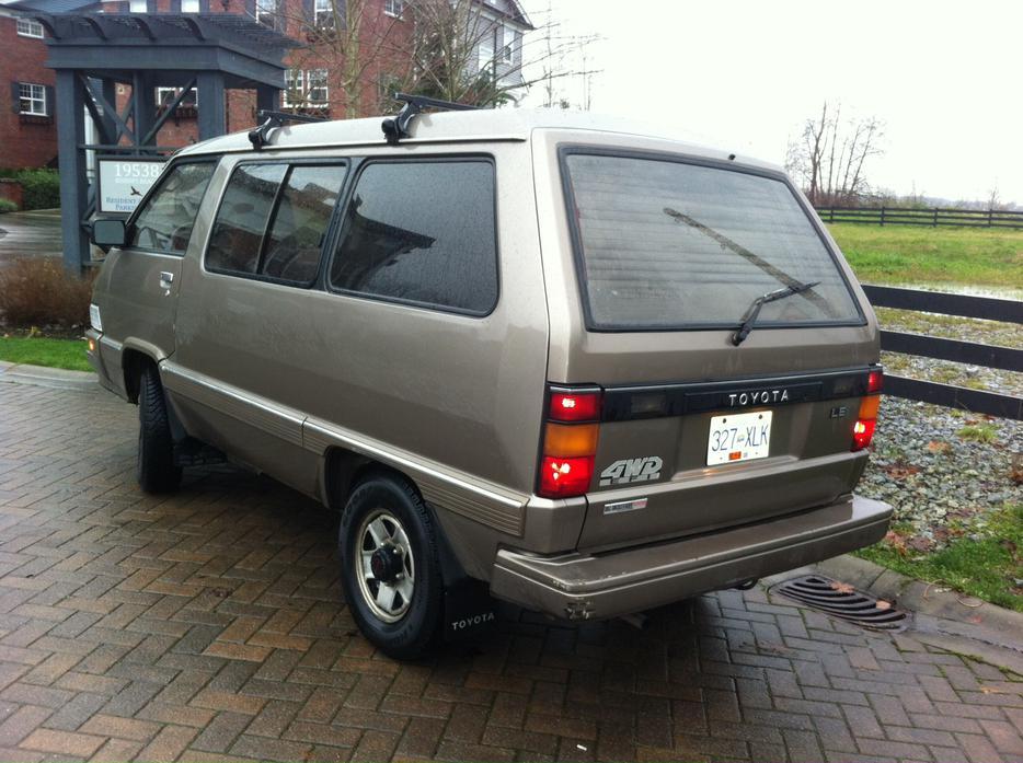 1987 4x4 Toyota Van Left Hand Drive Not A Japan Van