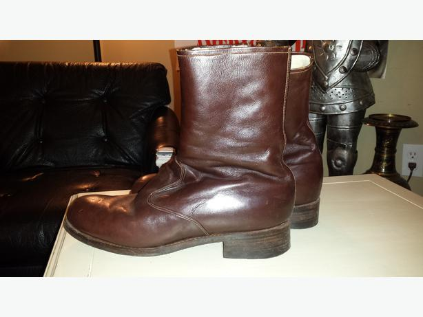 brown real leather boots size 11 12 esquimalt view royal