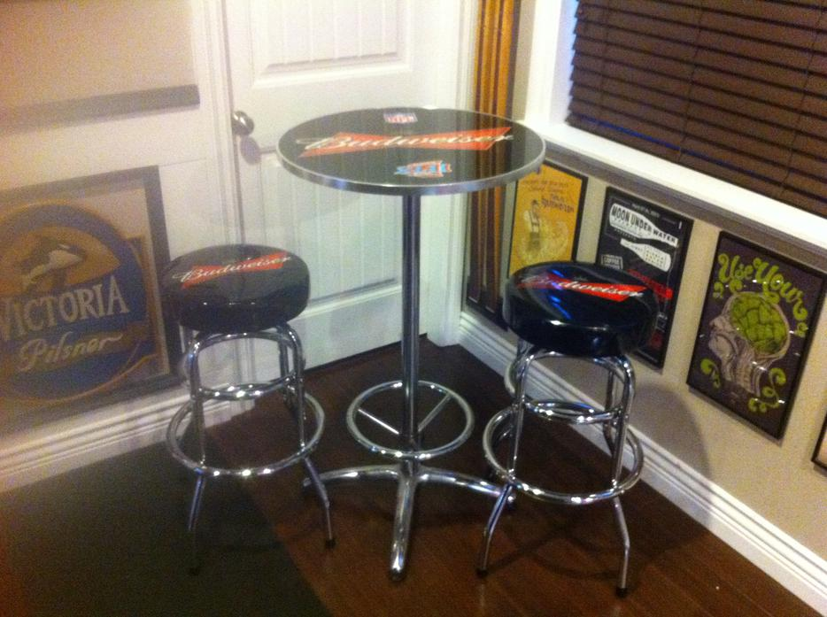 Budweiser Bar Table And Bar Stools 300 Obo Saanich