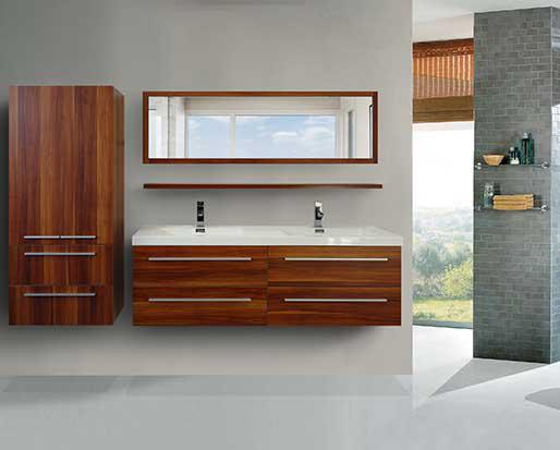 Modern Vanity With Mirror And Side Cabinet Gatineau Sector