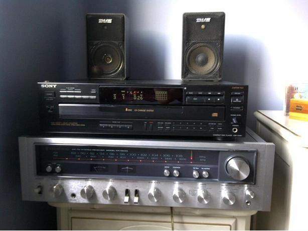 Kenwood AM/FM Stereo Receiver, Sony CD Player, DME Speakers