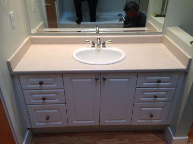 Bathroom Vanity With Countertop And Fixtures Saanich Victoria