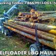 LOG HAULING Self Loader Log Truck, Hauling Timber Washington