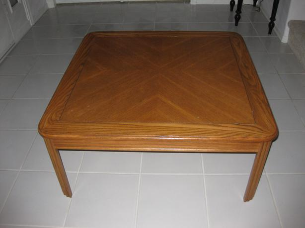 36 Square Solid Oak Coffee Table Saanich Victoria