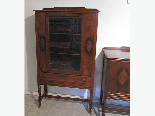 Low Price Antique China Cabinet 61 Tall X 33 Wide 14