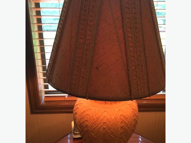 Teraacotta Style Table Lamp Saanich Victoria
