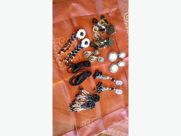 Dangly clip-on earrings