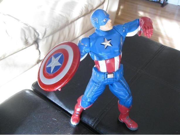 Talking Captain America with shield