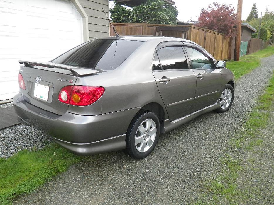 2004 toyota corolla sport outside comox valley courtenay comox. Black Bedroom Furniture Sets. Home Design Ideas