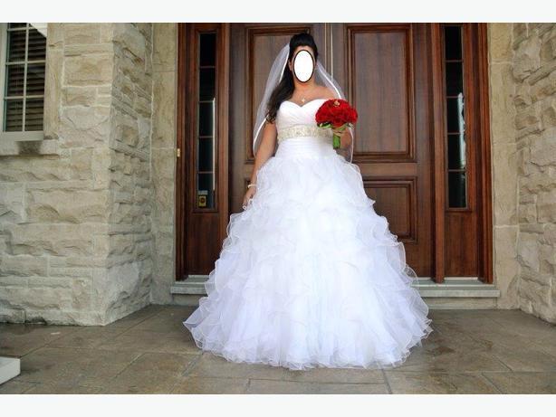 white wedding dress size 16 $500obo