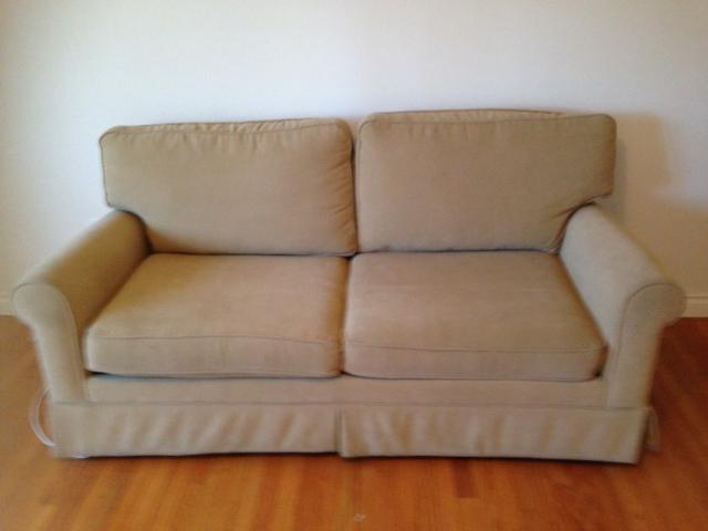 Beige Sofa Bed With Simmons Beautyrest Mattress Oak Bay