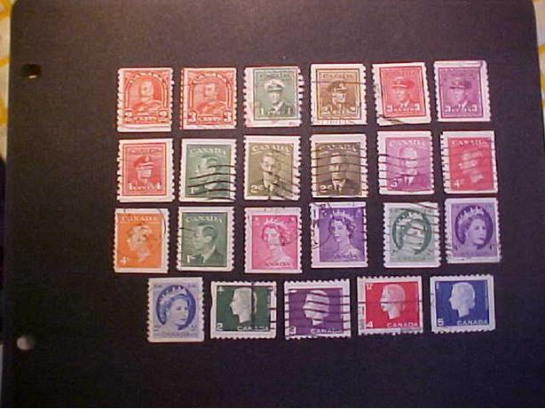 23 CANADIAN COIL STAMPS