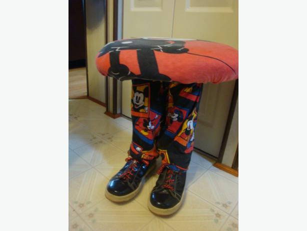 Mickey mouse stool with shoes west shore langford colwood metchosin highlands victoria - Mickey mouse stool ...
